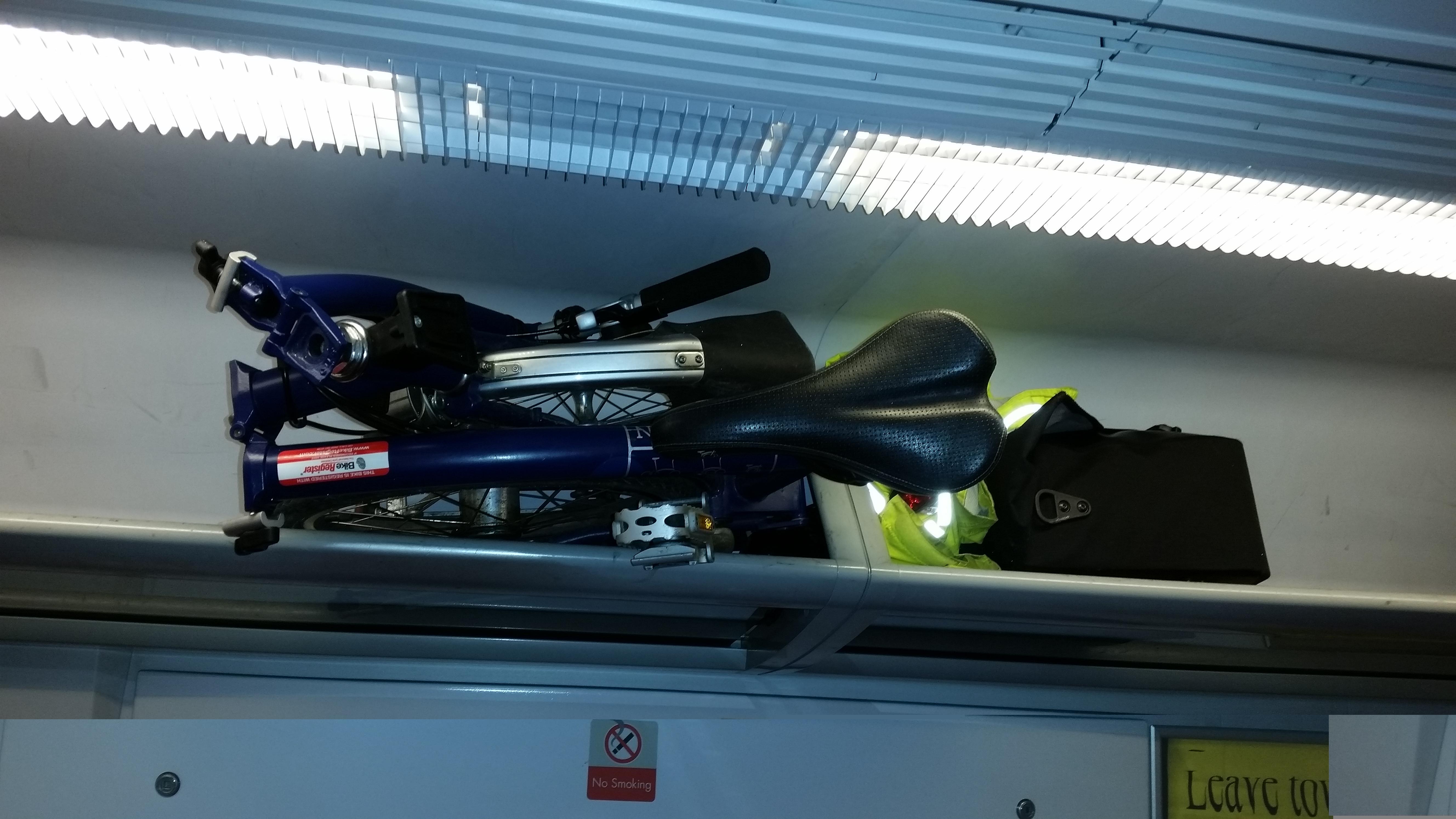 Bike in luggage rack